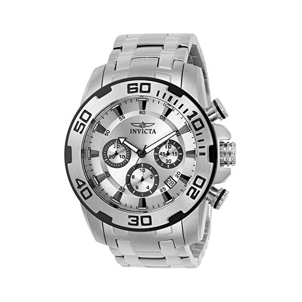 インビクタ 腕時計 INVICTA インヴィクタ プロダイバー メンズ 男性用 22317 Invicta Men's Pro Diver Quartz Watch with Stainless Steel Strap, Silver, 26 (Model: 22317-I)