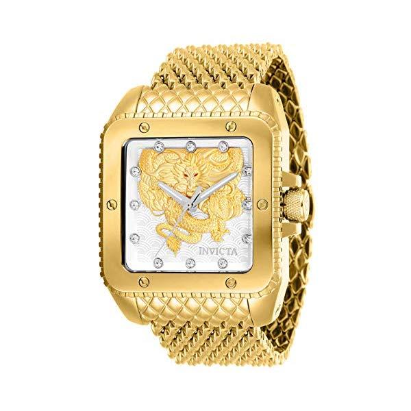 インビクタ 腕時計 INVICTA インヴィクタ クアドロ ドラゴン ゴールド 28511 Invicta Automatic Watch (Model: 28511)
