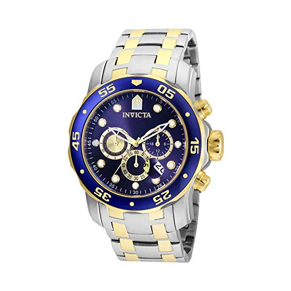 インビクタ 腕時計 INVICTA インヴィクタ プロダイバー メンズ 男性用 24849 Invicta Men's Pro Diver Collection Chronograph 18k Gold-Plated Watch with Link Bracelet