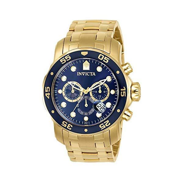 インビクタ 腕時計 INVICTA インヴィクタ プロダイバー メンズ 男性用 0073 Invicta Men's Pro Diver Collection Chronograph 18k Gold-Plated Watch with Link Bracelet
