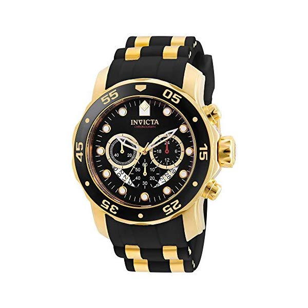 インビクタ 腕時計 INVICTA インヴィクタ プロダイバー メンズ 男性用 6981 Invicta Men's 6981 Pro Diver Analog Swiss Chronograph Black Polyurethane Watch