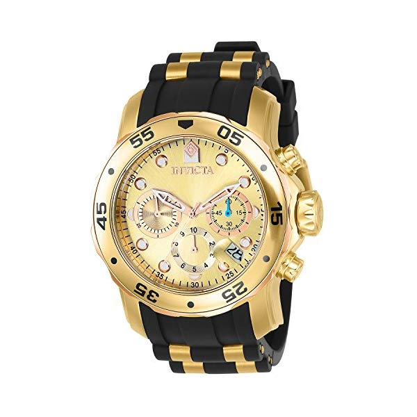 インビクタ 腕時計 INVICTA インヴィクタ プロダイバー メンズ 男性用 17884 Invicta Men's 17884 Pro Diver 18k Gold Ion-Plated Stainless Steel Chronograph Watch