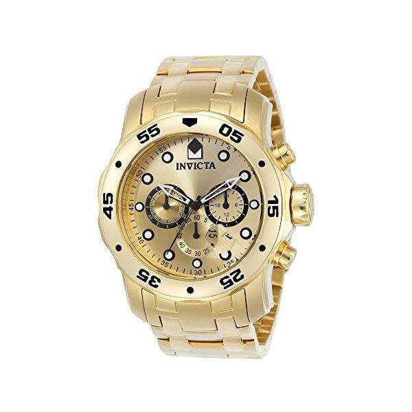 インビクタ 腕時計 INVICTA インヴィクタ プロダイバー メンズ 男性用 0074 Invicta Men's 0074 pro Diver Analog Japanese Quartz 18k Gold-Plated Stainless Steel Watch