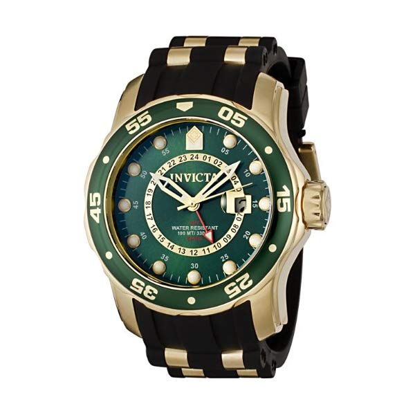インビクタ 腕時計 INVICTA インヴィクタ プロダイバー メンズ 男性用 6994 Invicta Men's Pro Diver Collection GMT 18k Gold-Plated Stainless Steel Watch with Black Band