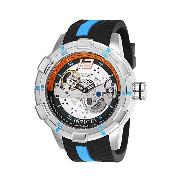 インビクタ 腕時計 INVICTA インヴィクタ S1ラリー メンズ 男性用 26618 Invicta Men's S1 Rally Stainless Steel Automatic-self-Wind Watch with Silicone Strap, Black, 24 (Model: 26618)