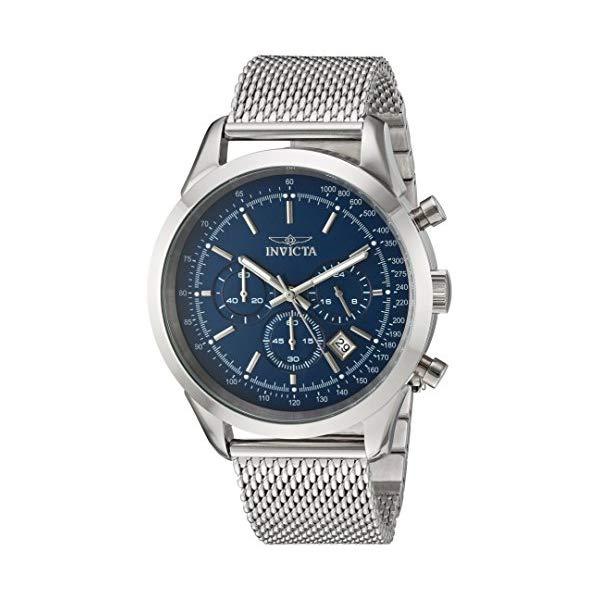 インビクタ 腕時計 INVICTA インヴィクタ スピードウェイ メンズ 男性用 24209 Invicta Men's Speedway Quartz Watch with Stainless-Steel Strap, Silver, 22 (Model: 24209)