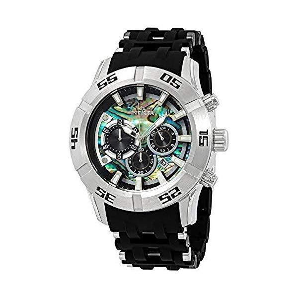 インビクタ 腕時計 INVICTA インヴィクタ シースパイダー メンズ 男性用 26529 Invicta Men's 50mm Sea Spider Collection Chronograph Black Polyurethane Bracelet Stainless Steel Watch