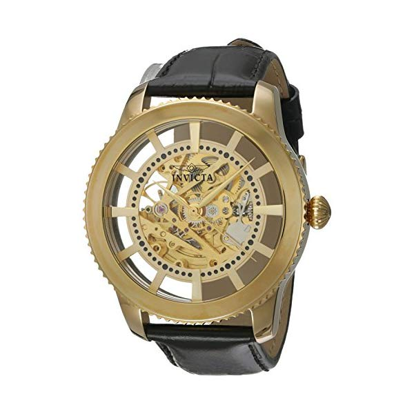 インビクタ 腕時計 INVICTA インヴィクタ ビンテージ メンズ 男性用 22571 Invicta Men's 'Vintage' Automatic Stainless Steel and Leather Casual Watch, Color:Black/Gold (Model: 22571)