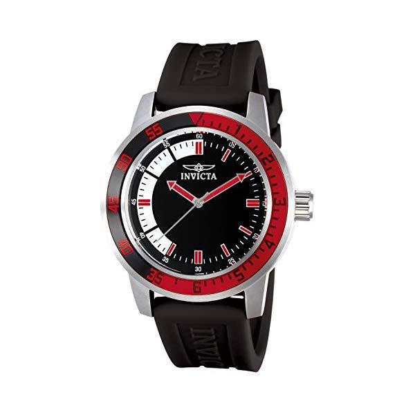 インビクタ 腕時計 INVICTA インヴィクタ スペシャリティ メンズ 男性用 12845 Invicta Men's 12845 Specialty Black Dial Watch with Red/Black Bezel