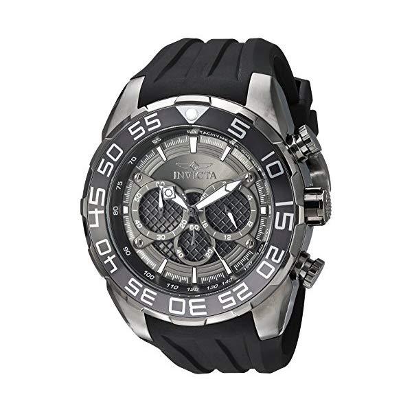 インビクタ 腕時計 INVICTA インヴィクタ スピードウェイ メンズ 男性用 26308 Invicta Men's Speedway Stainless Steel Quartz Watch with Silicone Strap, Black, 30 (Model: 26308)