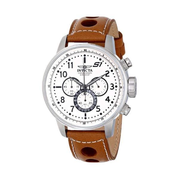インビクタ 腕時計 INVICTA インヴィクタ S1ラリー メンズ 男性用 16009 Invicta Men's S1 Rally Analog Display Japanese Quartz Stainless Steel Brown Leather Band Watch