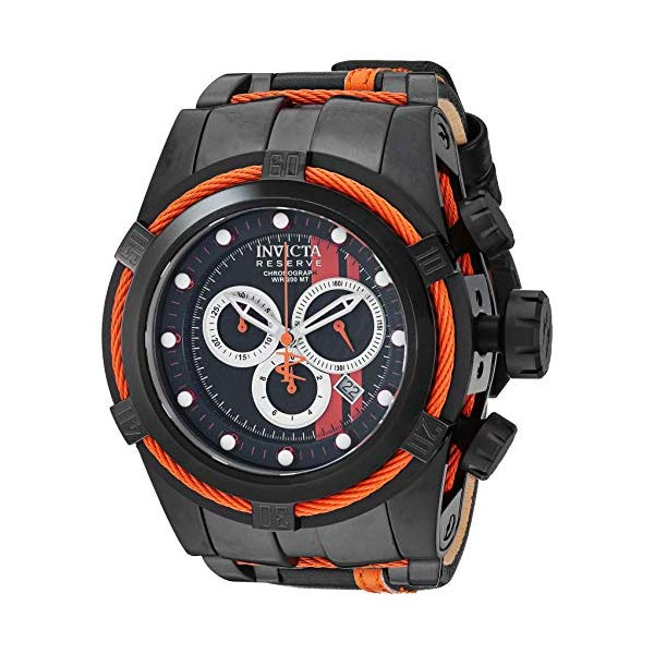 インビクタ 腕時計 INVICTA インヴィクタ リザーブ メンズ 男性用 26473 Invicta Men's 26473 Reserve Quartz Chronograph Black, Orange, Silver Dial Watch