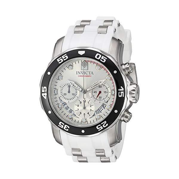 インビクタ 腕時計 INVICTA インヴィクタ プロダイバー メンズ 男性用 20290 Invicta Men's Pro Diver Stainless Steel Quartz Watch with Polyurethane Strap, White, 25 (Model: 20290)