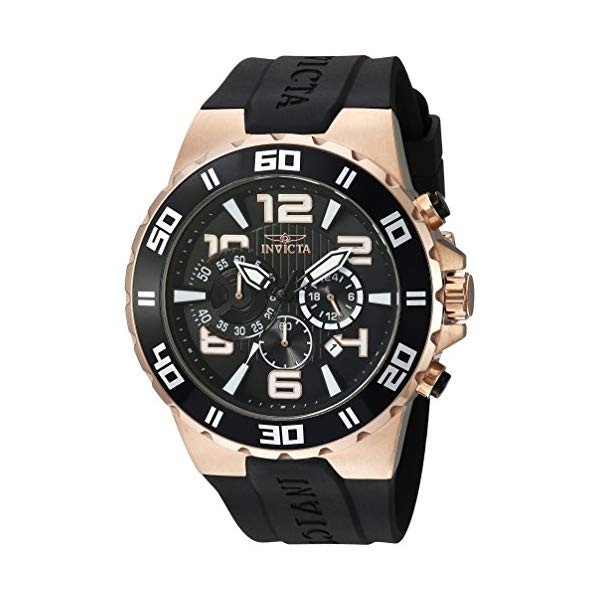 インビクタ 腕時計 INVICTA インヴィクタ プロダイバー メンズ 男性用 24672 Invicta Men's Pro Diver Stainless Steel Quartz Watch with Polyurethane Strap, Black