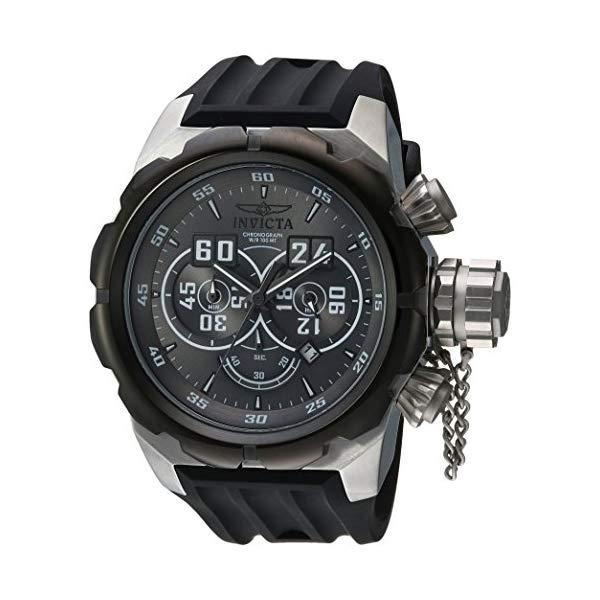 インビクタ 腕時計 INVICTA インヴィクタ ロシアンダイバー メンズ 男性用 21629 Invicta Men's Russian Diver Stainless Steel Quartz Watch with Silicone Strap, Black, 34 (Model: 21629)