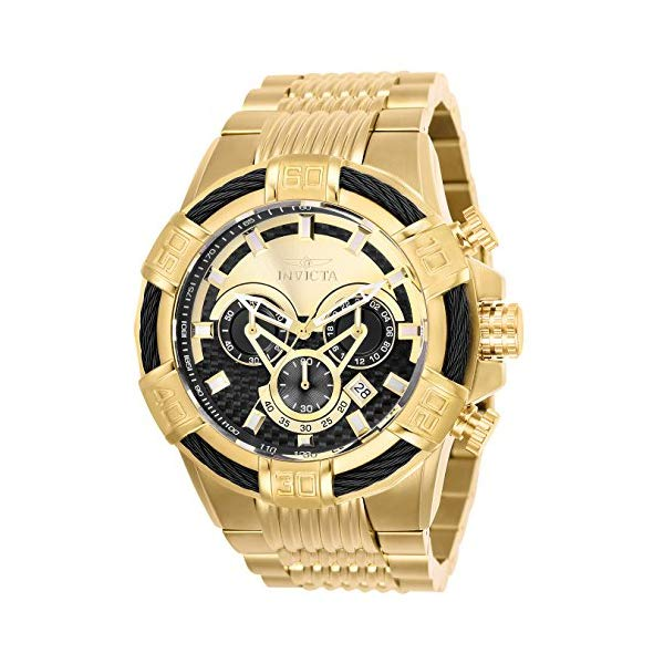 インビクタ 腕時計 INVICTA インヴィクタ ボルト メンズ 男性用 25543 Invicta Men's Bolt Quartz Stainless-Steel Strap, Gold, 30 Casual Watch (Model: 25543)
