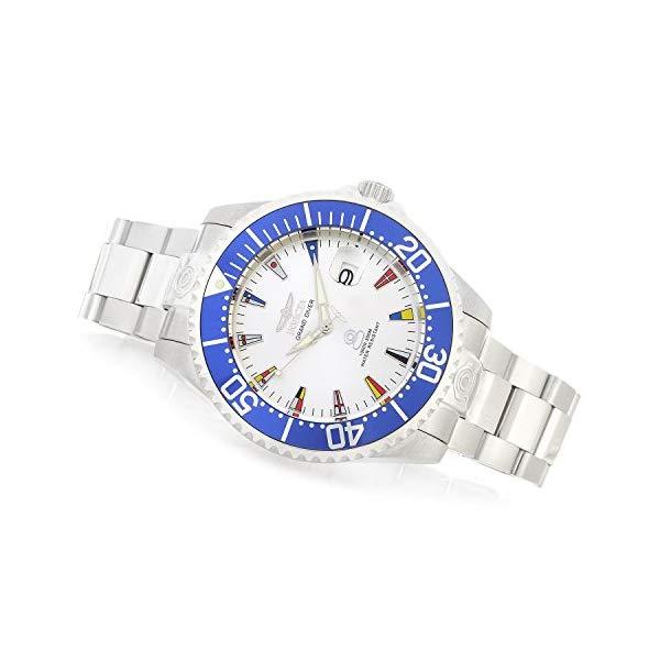 インビクタ 腕時計 INVICTA インヴィクタ プロダイバー メンズ 男性用 フラッグ 国旗 21324 Invicta Men's Grand Pro Diver Automatic-self-Wind Watch with Stainless-Steel Strap, 22 International Watch