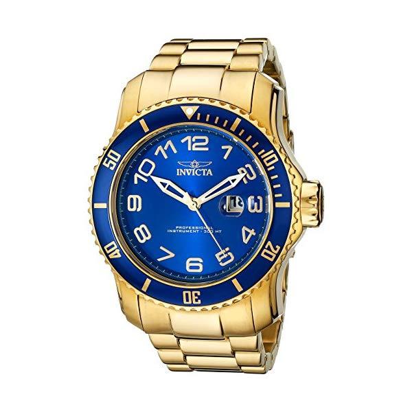 インビクタ 腕時計 INVICTA インヴィクタ プロダイバー メンズ 男性用 15347 Invicta Men's 15347 Pro Diver Blue and Yellow Gold-Tone Stainless Steel Watch