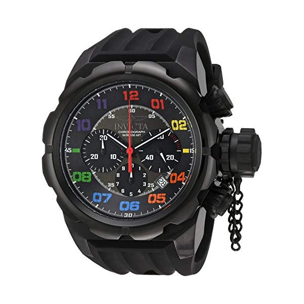 インビクタ 腕時計 INVICTA インヴィクタ ロシアンダイバー メンズ 男性用 22421 Invicta Men's Russian Diver Stainless Steel Quartz Watch with Silicone Strap, Black, 34 (Model: 22421)