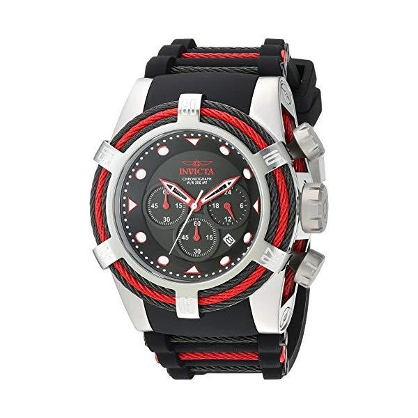 インビクタ 腕時計 INVICTA インヴィクタ ボルト メンズ 男性用 23052 Invicta Men's Bolt Stainless Steel Quartz Watch with Silicone Strap, Two Tone, 33 (Model: 23052)