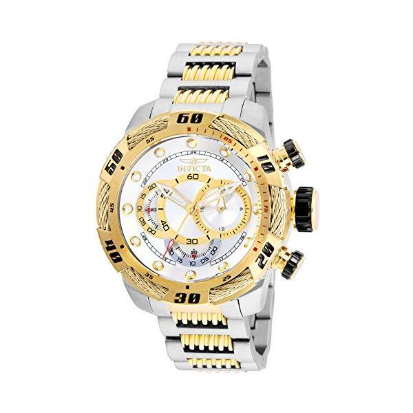 インビクタ 腕時計 INVICTA インヴィクタ スピードウェイ メンズ 男性用 25480 Invicta Men's Speedway Quartz Stainless-Steel Strap, Two Tone, 24 Casual Watch (Model: 25480)