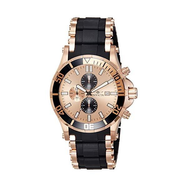 インビクタ 腕時計 INVICTA インヴィクタ シースパイダー メンズ 男性用 1479 Invicta Men's 1479 Sea Spider Chronograph Rose Dial Black Polyurethane Watch