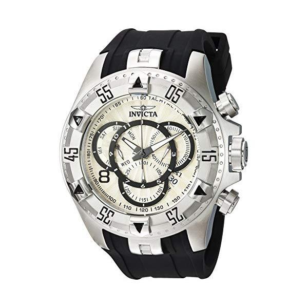 インビクタ 腕時計 INVICTA インヴィクタ エクスカーション メンズ 男性用 24270 Invicta Men's Excursion Stainless Steel Quartz Watch with Silicone Strap, Black, 26 (Model: 24270)