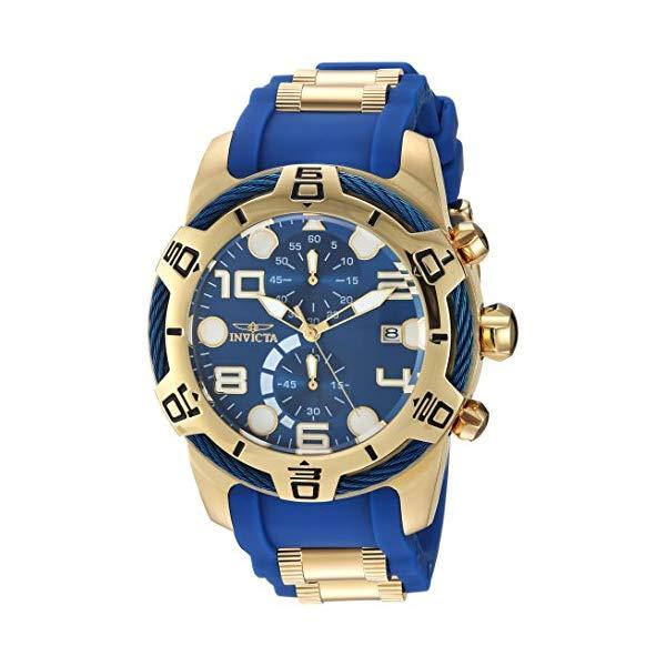 インビクタ 腕時計 INVICTA インヴィクタ ボルト メンズ 男性用 24217 Invicta Men's Bolt Quartz Watch with Polyurethane Strap, Two Tone, 29 (Model: 24217)