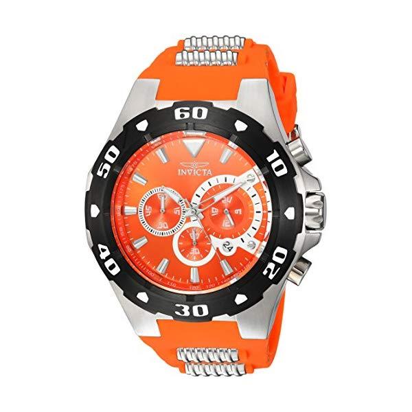 インビクタ 腕時計 INVICTA インヴィクタ プロダイバー メンズ 男性用 24680 Invicta Men's Pro Diver Stainless Steel Quartz Watch with Polyurethane Strap, Orange, 30 (Model: 24680)