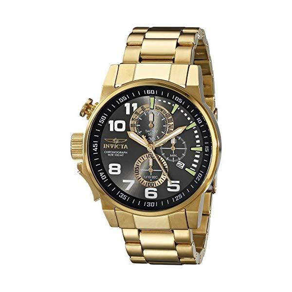 インビクタ 腕時計 INVICTA インヴィクタ フォース メンズ 男性用 17416 Invicta Men's 17416 I-Force 18K Gold Ion-Plated Stainless Steel Watch