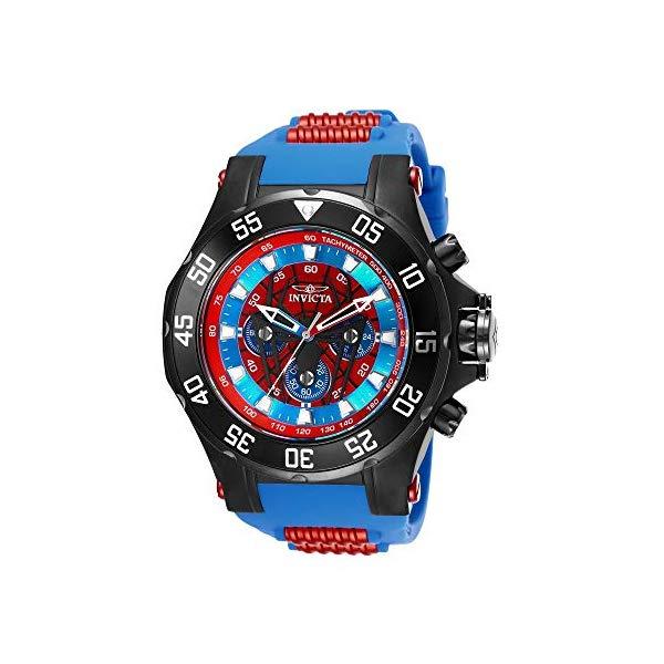 インビクタ 腕時計 INVICTA インヴィクタ マーベル メンズ 男性用 25689 Invicta Men's Marvel Stainless Steel Quartz Watch with Silicone Strap, Blue, 24.4 (Model: 25689)