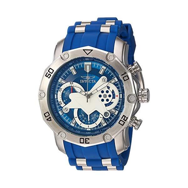 インビクタ 腕時計 INVICTA インヴィクタ プロダイバー メンズ 男性用 22796 Invicta Men's Pro Diver Stainless Steel Quartz Watch with Silicone Strap, Blue, 25 (Model: 22796)