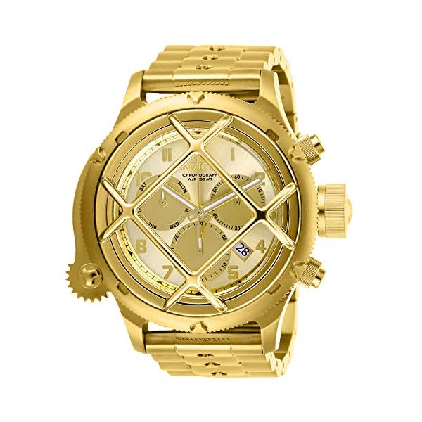 インビクタ 腕時計 INVICTA インヴィクタ ロシアンダイバー メンズ 男性用 26463 Invicta Men's Russian Diver Quartz Stainless-Steel Strap, Gold, 21 Casual Watch (Model: 26463)