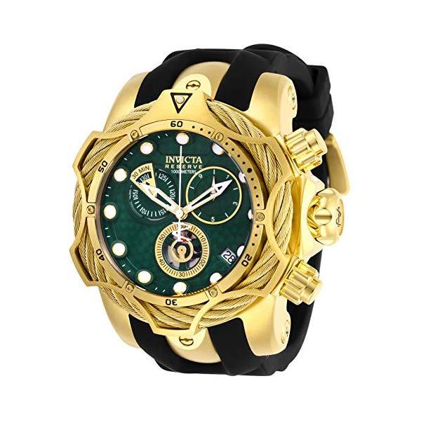 インビクタ 腕時計 INVICTA インヴィクタ リザーブ メンズ 男性用 27706 Invicta Men's Reserve Stainless Steel Quartz Watch with Silicone Strap, Black, 26 (Model: 27706)