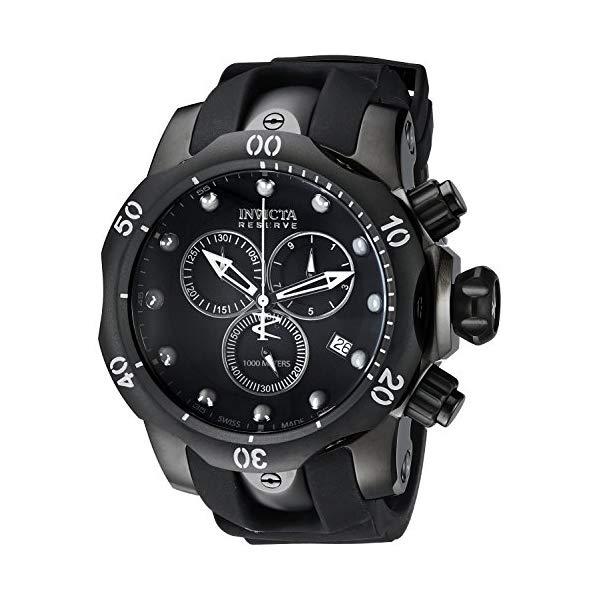 インビクタ 腕時計 INVICTA インヴィクタ リザーブ ベノム メンズ 男性用 6051 Invicta Men's 6051 Venom Reserve Black Stainless Steel Watch with Polyurethane Band