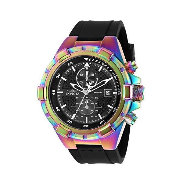 インビクタ 腕時計 INVICTA インヴィクタ アビエーター メンズ 男性用 28104 Invicta Men's Aviator Stainless Steel Quartz Watch with Silicone Strap, Black, 26 (Model: 28104)