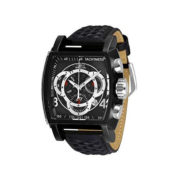 インビクタ 腕時計 INVICTA インヴィクタ S1ラリー メンズ 男性用 27927 Invicta Men's S1 Rally Stainless Steel Quartz Leather Calfskin Strap, Black, 26 Casual Watch (Model: 27927)