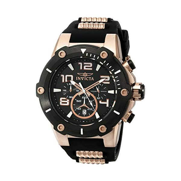 インビクタ 腕時計 INVICTA インヴィクタ スピードウェイ メンズ 男性用 17201 Invicta Men's 17201 Speedway Analog Japanese Quartz Black & 18k Rose Gold Ion-Plated Stainless Steel Watch