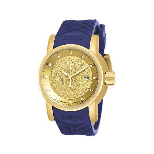 インビクタ 腕時計 INVICTA インヴィクタ S1ラリー メンズ 男性用 18215 Invicta Men's S1 Rally Stainless Steel Automatic-self-Wind Watch with Silicone Strap, Blue, 24 (Model: 18215)