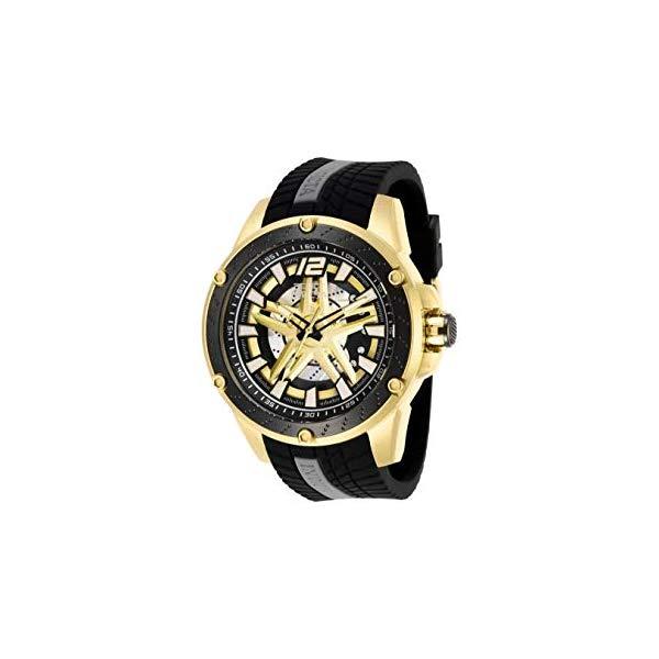インビクタ 腕時計 INVICTA インヴィクタ S1ラリー 28304 INVICTA S1 Rally Men 50mm Black Silicone Band, Gold/Rose Gold case, Rose Gold dial Automatic Watch
