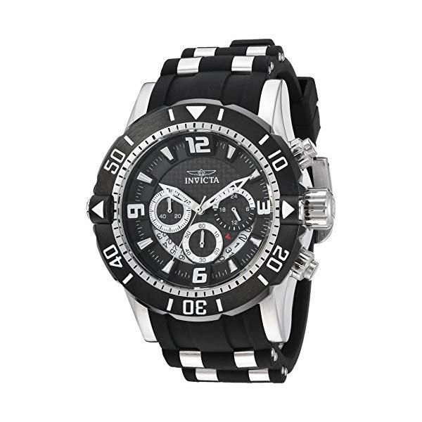 インビクタ 腕時計 INVICTA インヴィクタ プロダイバー メンズ 男性用 23696 Invicta Men's Pro Diver Stainless Steel Quartz Diving Watch with Polyurethane Strap, Black, 26 (Model: 23696)