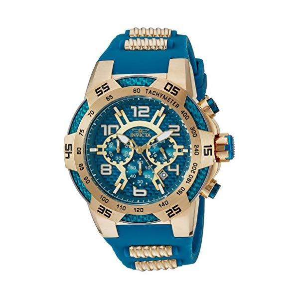 インビクタ 腕時計 INVICTA インヴィクタ スピードウェイ メンズ 男性用 24232 Invicta Men's Speedway Stainless Steel Quartz Watch with Silicone Strap, Two Tone, 30 (Model: 24232)