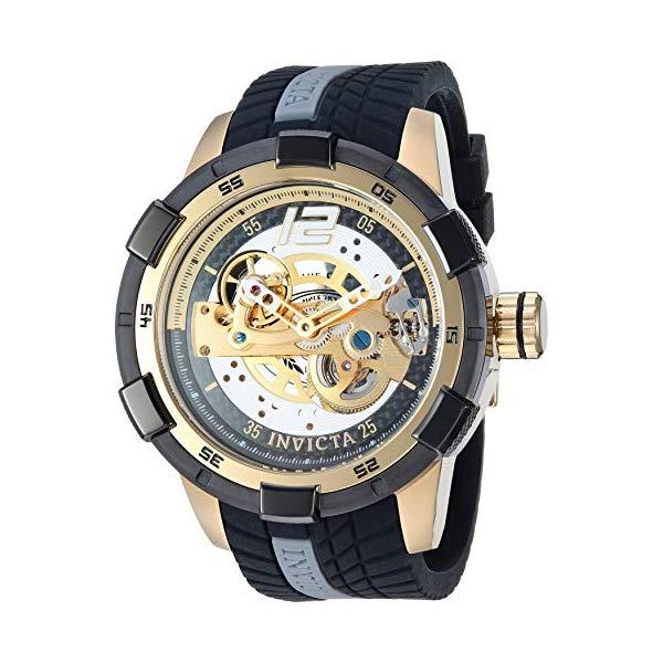 インビクタ 腕時計 INVICTA インヴィクタ S1ラリー メンズ 男性用 26620 Invicta Men's S1 Rally Stainless Steel Automatic-self-Wind Watch with Silicone Strap, Black, 24 (Model: 26620)