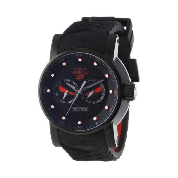 インビクタ 腕時計 INVICTA インヴィクタ S1ラリー メンズ 男性用 12787 Invicta Men's 12787 S1 Rally Black Textured Dial Black and Red Silicone Watch