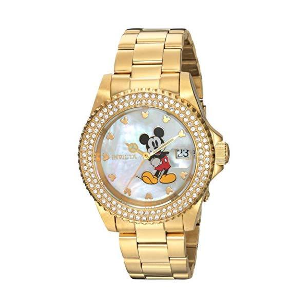 インビクタ INVICTA 9 インヴィクタ 腕時計 ウォッチ 24751 ディズニー 限定 ミッキー ウォッチ レディース レディース 女性用 Invicta Women's Disney Limited Edition Quartz Watch with Stainless-Steel Strap, Gold, 9 (Model: 24751), 酒の茶碗屋:206d1f7d --- ww.thecollagist.com
