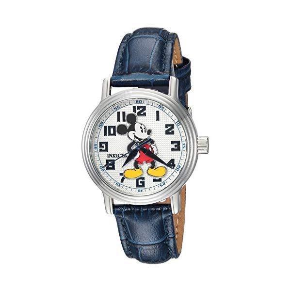 インビクタ INVICTA Steel インヴィクタ 腕時計 ウォッチ 24549 Strap, ディズニー 限定 ミッキー 16 レディース 女性用 Invicta Women's Disney Limited Edition Stainless Steel Quartz Watch with Leather Calfskin Strap, Blue, 16 (Model: 24549), お肉屋のふじ子ちゃん:983bdc08 --- ww.thecollagist.com