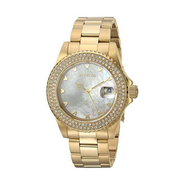 インビクタ INVICTA インヴィクタ 腕時計 ウォッチ 22731 ディズニー 限定 ミッキー レディース 女性用 Invicta Women's Disney Limited Edition Quartz Watch with Stainless-Steel Strap, Gold, 9 (Model: 22731)