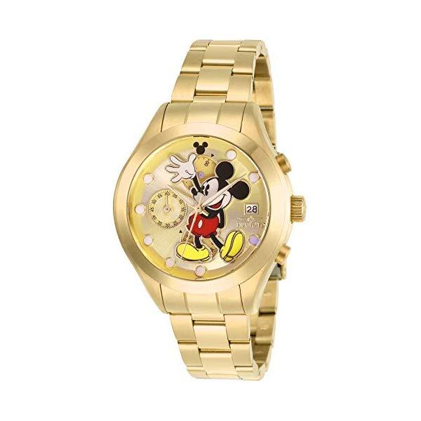 インビクタ INVICTA インヴィクタ 腕時計 ウォッチ 27399 ディズニー 限定 ミッキー レディース 女性用 Invicta Women's Disney Limited Edition Quartz Watch with Stainless Steel Strap, Gold, 18 (Model: 27399)