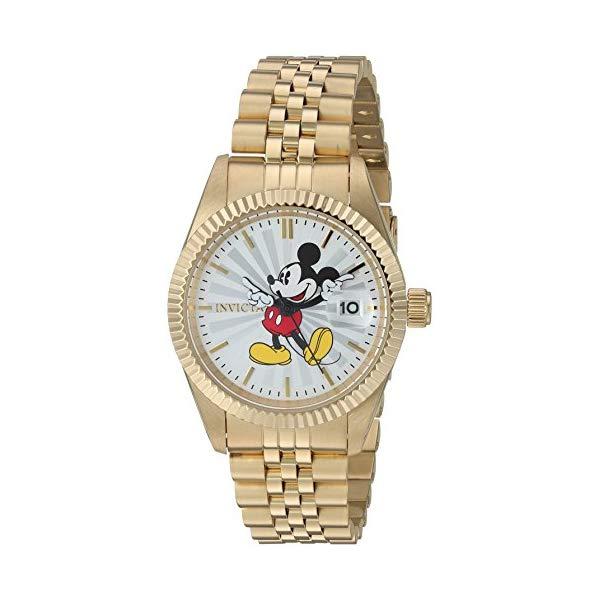 インビクタ Strap, INVICTA インヴィクタ 腕時計 ウォッチ 22775 Edition ディズニー Stainless-Steel 限定 ミッキー レディース 女性用 Invicta Women's Disney Limited Edition Quartz Watch with Stainless-Steel Strap, Gold, 7 (Model: 22775), 新しい到着:ac461452 --- ww.thecollagist.com