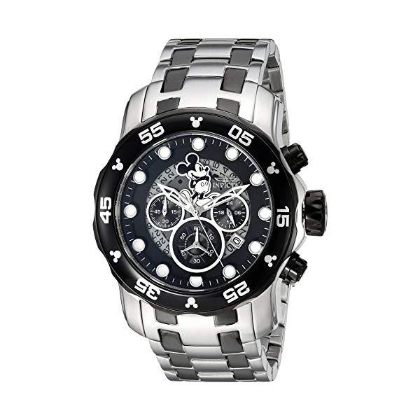 インビクタ INVICTA インヴィクタ 腕時計 ウォッチ 23767 ディズニー 限定 ミッキー メンズ 男性用 Invicta Men's Disney Limited Edition Quartz Watch with Stainless-Steel Strap, Silver, 19 (Model: 23767)